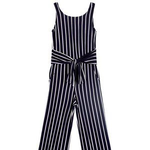NEW Ally B Black/White Sleeveless Jumpsuit M (10)